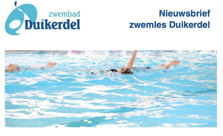 Zwemlesnieuwsbrief Duikerdel